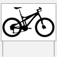 black mountain bike bicycle Yard Sign