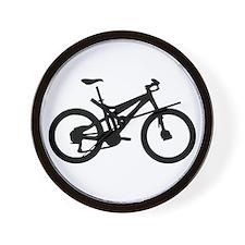 black mountain bike bicycle Wall Clock