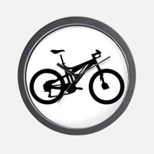 black mountain bike bicycle Wall Clock