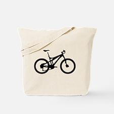black mountain bike bicycle Tote Bag