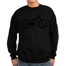 black mountain bike bicycle Sweatshirt