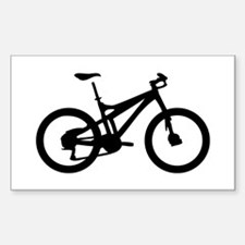 black mountain bike bicycle Rectangle Decal