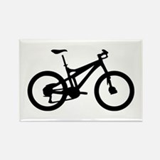 black mountain bike bicycle Rectangle Magnet (10 p