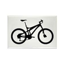 black mountain bike bicycle Rectangle Magnet