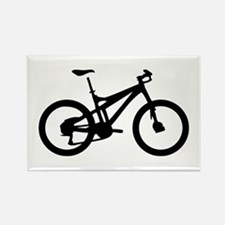 black mountain bike bicycle Rectangle Magnet