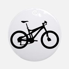 black mountain bike bicycle Ornament (Round)