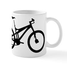 black mountain bike bicycle Mug