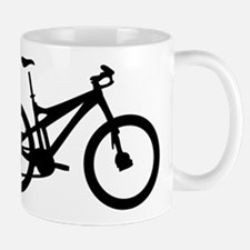 black mountain bike bicycle Mug