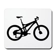 black mountain bike bicycle Mousepad