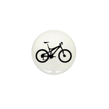 black mountain bike bicycle Mini Button