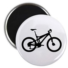 black mountain bike bicycle Magnet