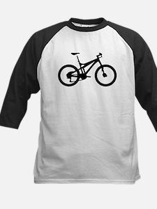 black mountain bike bicycle Kids Baseball Jersey