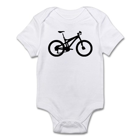 black mountain bike bicycle Infant Bodysuit
