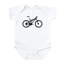 black mountain bike bicycle Infant Bodysuit