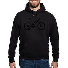 black mountain bike bicycle Hoodie