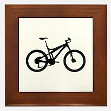 black mountain bike bicycle Framed Tile