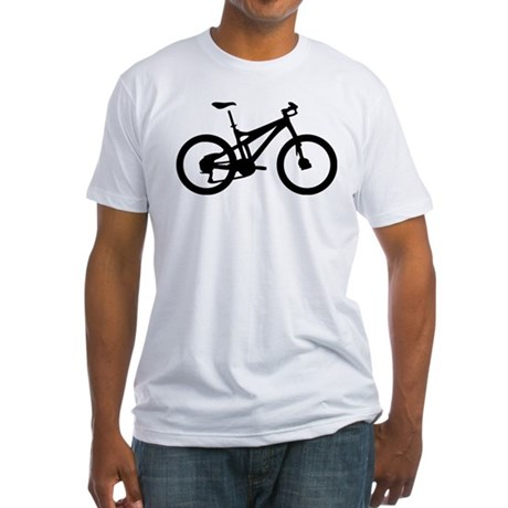 black mountain bike bicycle Fitted T-Shirt