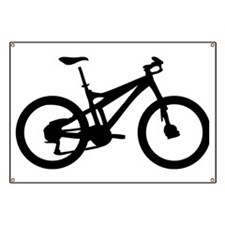 black mountain bike bicycle Banner