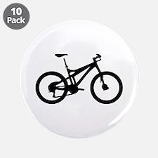 "black mountain bike bicycle 3.5"" Button (10 p"