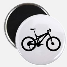 "black mountain bike bicycle 2.25"" Magnet (100"