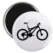 "black mountain bike bicycle 2.25"" Magnet (10"