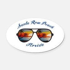 Florida - Santa Rosa Beach Oval Car Magnet