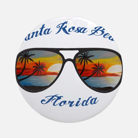 Florida - Santa Rosa Beach Round Ornament