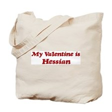 Hessian Valentine Tote Bag