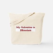 Hessian Valentine Tote Bag