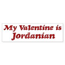 Jordanian Valentine Bumper Bumper Sticker