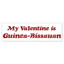 Guinea-Bissauan Valentine Bumper Bumper Sticker