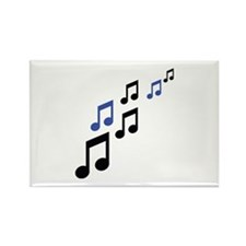 music notes symbols Rectangle Magnet