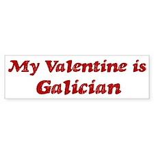 Galician Valentine Bumper Bumper Sticker