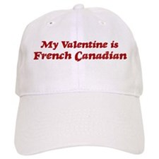 French Canadian Valentine Baseball Baseball Cap