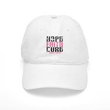 HOPE FAITH CURE Breast Cancer Baseball Cap