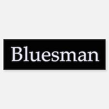 Bluesman Bumper Car Car Sticker