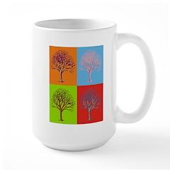 Warhol Print Tree Large Mug
