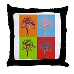 Warhol Print Tree Throw Pillow