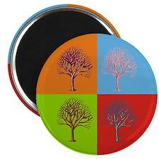 Warhol Print Tree Magnet