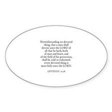 LEVITICUS 27:28 Oval Decal