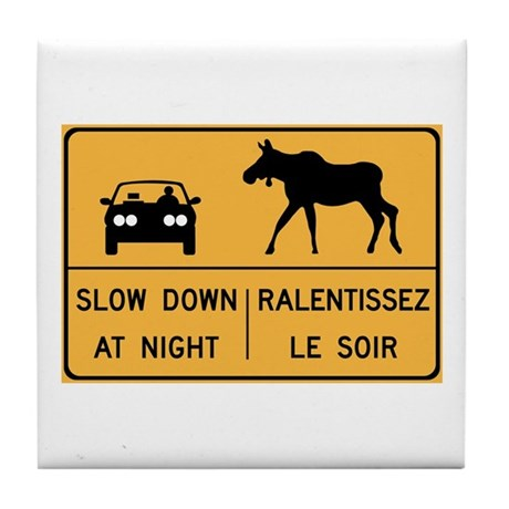 Slow Down At Night, Canada Tile Coaster