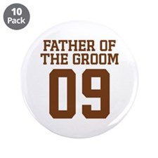 """Father of Groom 09 3.5"""" Button (10 pack)"""