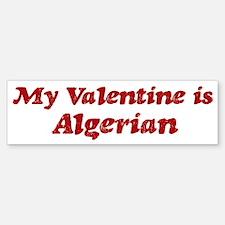 Algerian Valentine Bumper Bumper Bumper Sticker