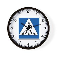 Pedestrian Crossing, Russia Wall Clock
