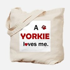A Yorkie Loves Me Tote Bag
