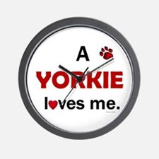 A Yorkie Loves Me Wall Clock