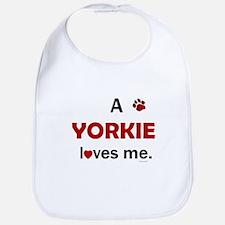 A Yorkie Loves Me Bib