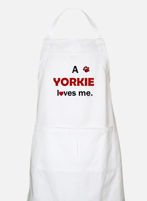 A Yorkie Loves Me BBQ Apron