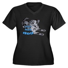 catahoula puppy Women's Plus Size V-Neck Dark T-Sh