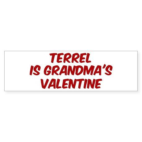Terrels is grandmas valentine Bumper Sticker